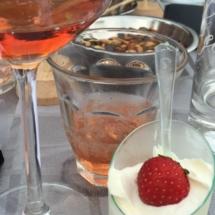 Dessertwijn en hapje